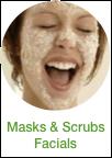 button Masks & Scrubs facials