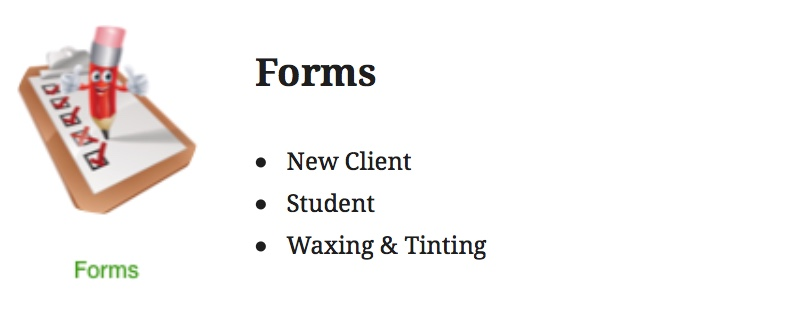 BUTTON TO FORMS